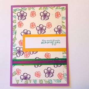 Homemade card With white envelope